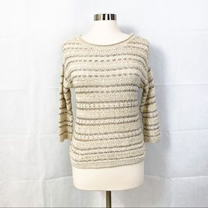 Lucky Brand Striped Knit Sweater - S